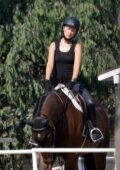 Olivia Wilde spotted during her horseback riding session in Thousand Oaks, California