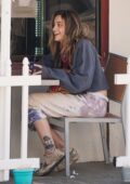 Paris Jackson is all smiles while out grabbing breakfast with a friend in Beverly Hills, California