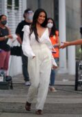 Shay Mitchell spotted on the set for a second day of filming a new commercial for REVLON in downtown Los Angeles