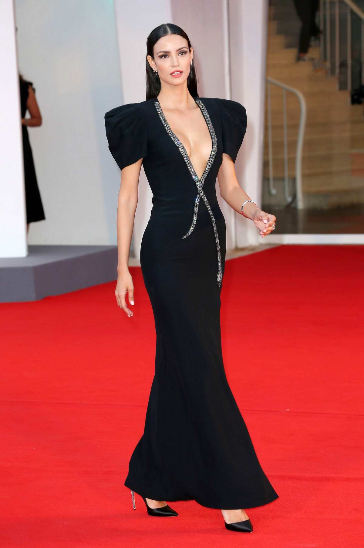 Sofia Resing attends the Premiere of 'Miss Marx' during the 77th Venice Film Festival in Venice, Italy