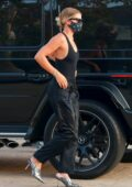 Sofia Richie looks chic in all-black as she arrives for dinner at Nobu in Malibu, California