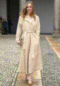 Suki Waterhouse attends the Boss fashion show during the Milan Fashion Week in Milan, Italy