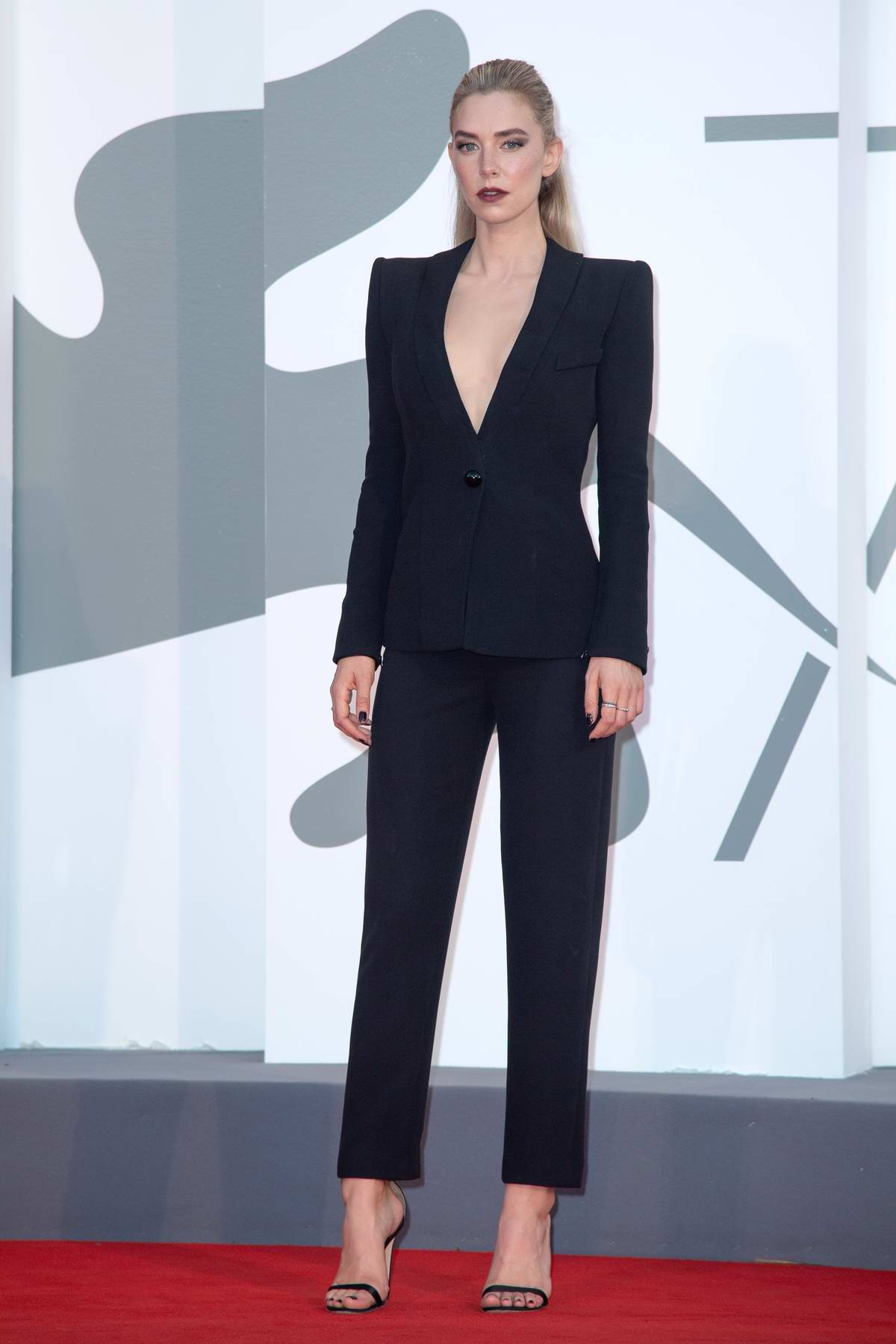 Vanessa Kirby attends the Premiere of 'The World to Come' during the 77th Venice Film Festival in Venice, Italy