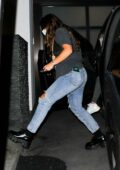 Addison Rae and boyfriend Bryce Hall seen arriving at a private residence after a night out in Los Angeles