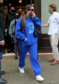 Addison Rae and Kourtney Kardashian seen leaving the Greenwich Hotel in New York City