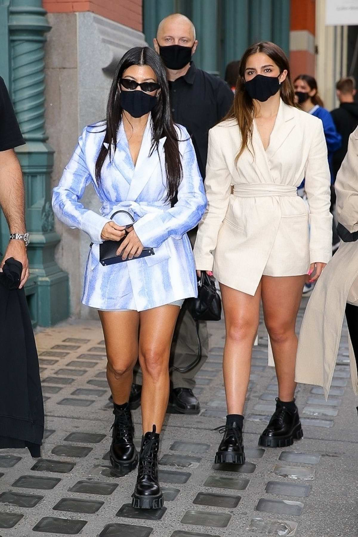 Addison Rae and Kourtney Kardashian step out for shopping in downtown Manhattan, New York