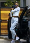 Alessandra Ambrosio sports tie-dye sweatsuit while visiting a friend in Los Angeles