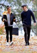 Alicia Vikander and Michael Fassbender enjoy a peaceful walk in Stockholm, Sweden