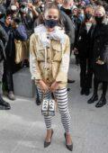 Alicia Vikander attends the Louis Vuitton Show during Paris Fashion Week in Paris, France