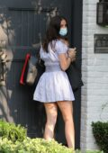 Ana de Armas looks cute in a minidress as she arrives back home after a photoshoot in Pacific Palisades, California