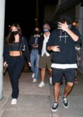 Anastasia Karanikolaou and Noah Centineo seen leaving Craig's after a dinner date in West Hollywood, California