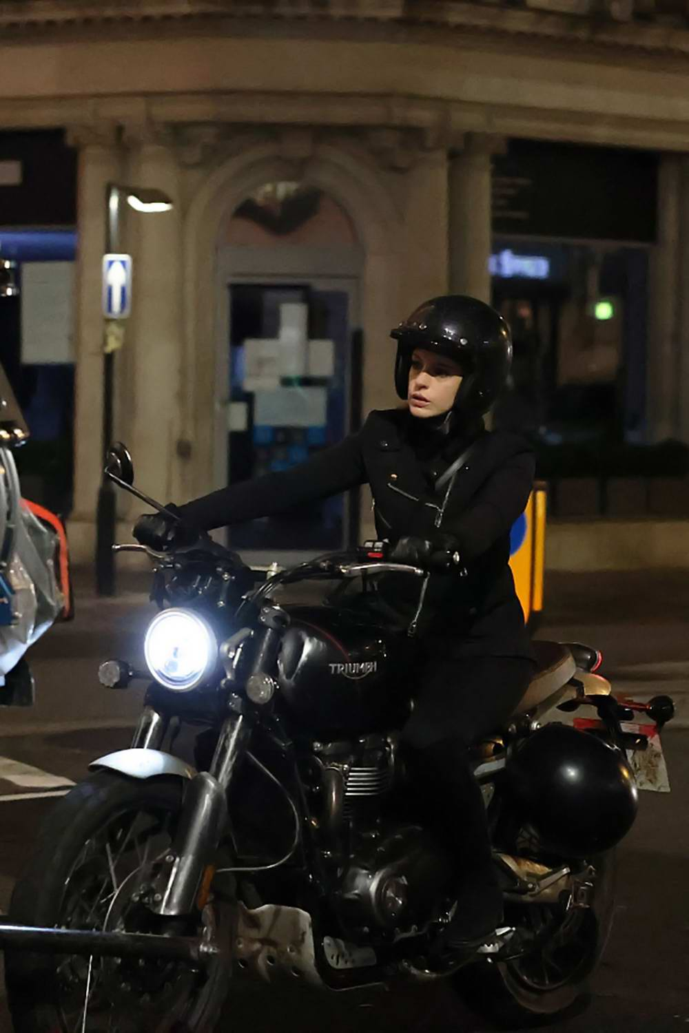 Anne Hathaway seen filming pandemic-themed film 'Lockdown' outside iconic department store Harrods in London, UK
