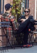 Ashley Benson and G-Eazy seen outside Alfred's during breakfast hours in Studio City, California