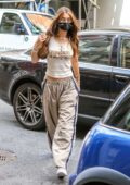 Bella Hadid keeps it trendy during her trip to a hair salon in New York City