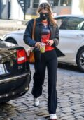 Bella Hadid looks trendy in black casuals as she arrives back home in New York City
