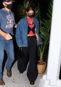 Bella Hadid steps out to meet with Alexander Wang for dinner in New York City