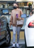 Chantel Jeffries and Jocelyn grab a smoothie at Earthbar after a workout in West Hollywood, California