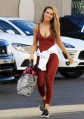 Chrishell Stause shows off her curves as she heads into dance practice at DWTS Studio in Los Angeles