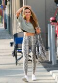 Chrishell Stause wears snakeskin top as and leggings she arrives at the DWTS studio in Los Angeles