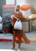 Chrissy Teigen and John Legend shop for fresh groceries at Bristol Farms in Beverly Hills, California