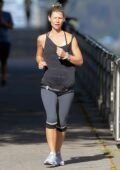 Claire Danes works up a sweat as she goes for a run in New York City