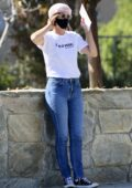 Cobie Smulders and husband Taran Killam step out to cast their mail in ballots in Los Angeles