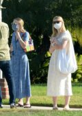 Dakota and Elle Fanning are spotted house hunting along with their mother in Burbank, California