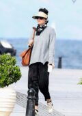 Dakota Johnson enjoys some sightseeing after filming for 'The Lost Daughter' in Spetses, Greece