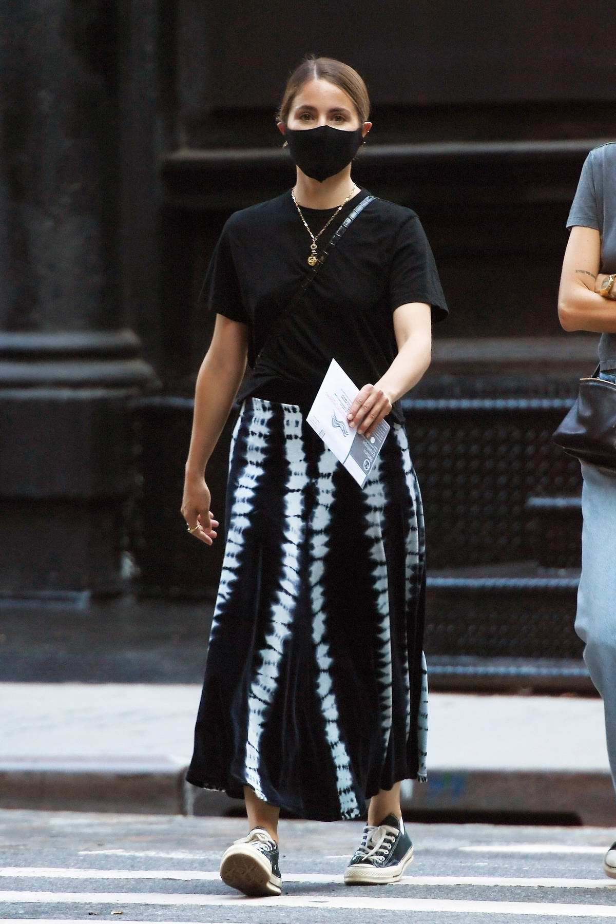 Dianna Agron performs her civic duty and drops off her ballot in New York City
