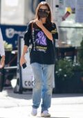 Emily Ratajkowski keeps it casual while out for walk with her dog and friends in downtown New York