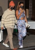 Hailey Bieber and Justin Bieber enjoy dinner at Craig's in West Hollywood, California
