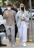 Hailey Bieber and Justin Bieber have a romantic lunch date at the Honor Bar in Santa Barbara, California