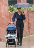 Irina Shayk seen picking her daughter up from school before enjoying a stroll in New York City