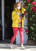 Isla Fisher brings some colors to the street while visiting the Jill Roberts clothing store in Studio City, California