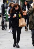 Jenna Coleman steps out for a healthy drink with a friend in Notting Hill, London, UK