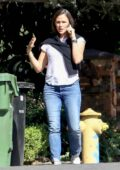 Jennifer Garner seen chatting on the phone while out for a walk in Pacific Palisades, California