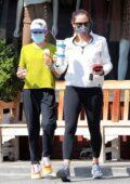 Jennifer Garner takes her kids a frozen treat in Brentwood, California