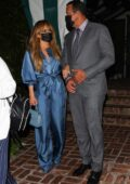 Jennifer Lopez and Alex Rodriguez seen leaving San Vincente Bungalows after a dinner date in West Hollywood, California