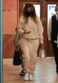 Jennifer Lopez keeps a low profile as she leaves a dentist's office in Beverly Hills, California