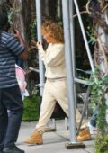 Jennifer Lopez seen heading out to the airport in New York City