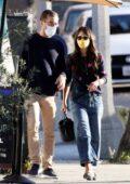 Jordana Brewster and boyfriend Mason Morfit step out for coffee in Santa Monica, California