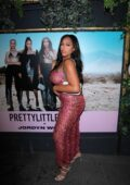 Jordyn Woods celebrates her collection launch with PrettyLittleThing at Petite Taqueria in West Hollywood, California