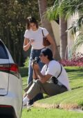 Kaia Gerber and Jacob Elordi enjoy a day out visiting friends in Hollywood, California