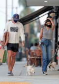 Kaia Gerber and Jacob Elordi go shopping for her dog after a coffee run in Los Angeles