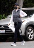 Katherine Schwarzenegger steps out for her daily walk in Santa Monica, California
