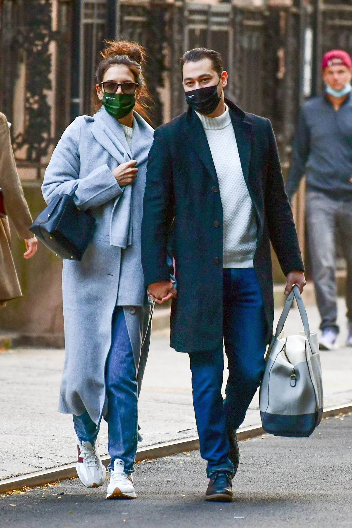 Katie Holmes and Emilio Vitolo Jr step out holding hands in Soho, New York City