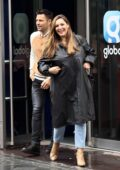 Kelly Brook seen leaving with Mark Wright after hosting her show on Heart Radio in London, UK