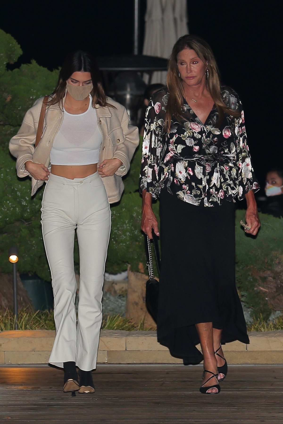 Kendall Jenner and Caitlyn Jenner enjoy dinner at Nobu in Malibu, California