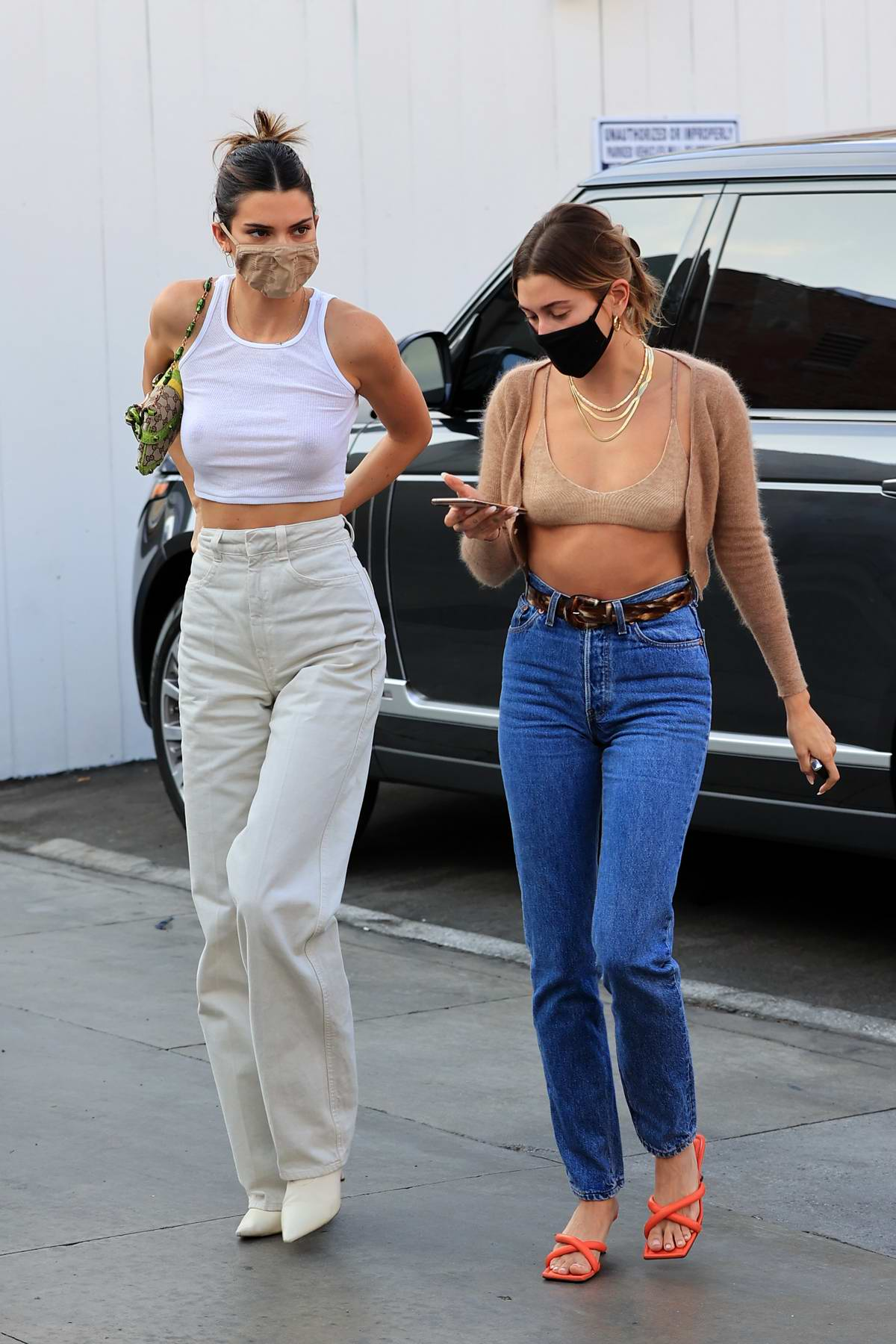 Kendall Jenner and Hailey Bieber enjoy a shopping trip together in Los Angeles