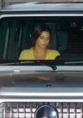 Kendall Jenner seen leaving after dinner with Fai Khadra at Nobu in Malibu, California